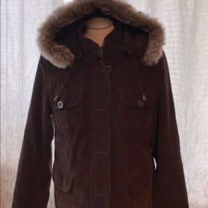 Great jacket for those cool days hood zips on